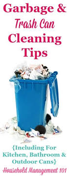 Garbage  Trash Can Cleaning Tips For Kitchen Bathroom  Outdoor - Bathroom trash bags