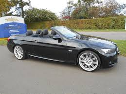 used bmw 3 series uk used 2009 bmw 3 series convertible black edition 325i m sport