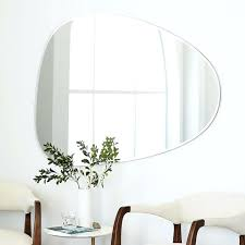 wall ideas large framesless mirror frameless mirrors uk the 25