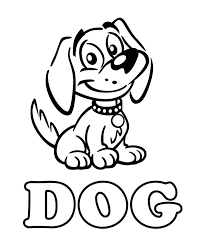 dog coloring pages for toddlers dog free printable coloring pages