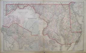 Map Of Md Antique Maps Of Maryland And The District Of Columbia