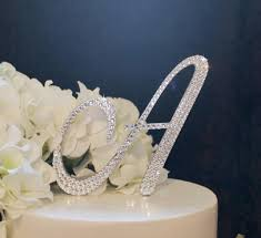wedding cake topper letter a quot monogram wedding cake topper in