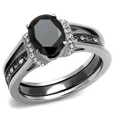 stainless steel wedding ring sets stainless steel wedding ring set ebay