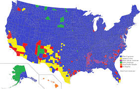 Map The United States by An Ethnic Map Of The United States By County Majority 2000x1267