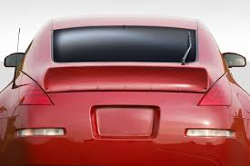 Nissan 350z Red - 03 08 fits nissan 350z rbs duraflex body kit wing spoiler