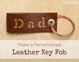 key fob tutorial personalized leather fob for s day