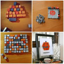 halloween crafts keyboard pumpkin c r a f t