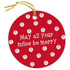 running porcelain ornament may all your be merry for
