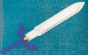 Master Sword Papercraft - master sword cutout by the emerald otter on deviantart