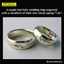 engraving inside wedding band a had their wedding rings engraved with a waveform of their
