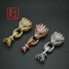 sterling silver bracelet clasps images 3pcs high quality luxury bracelet clasp rose gold silver leopard jpg