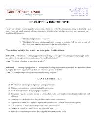 writing a resume job objective resume career objectives sample