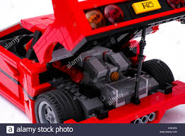 lego ferrari f40 tambov russian federation january 03 2016 open trunk of lego