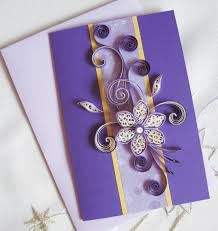 birthday card for sister mum wife paper quilling card