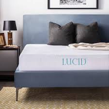 amazon com lucid 10 inch gel memory foam mattress dual layered