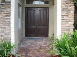 double entry door design ideas wood furniture