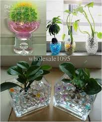 Water Beads Centerpieces Crystal Magic Mud Soil Water Beads Flower Plant Crystal Balls