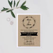 Wedding Invitations Rustic Kraft Wedding Invite Suite Wedding Invitation Rustic Set Rustic
