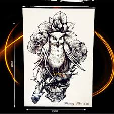 compare prices on skull tattoos flowers online shopping buy low