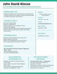 resume simple sample resume example resume format it cover letter sample template for high school job resume examples resume example templates