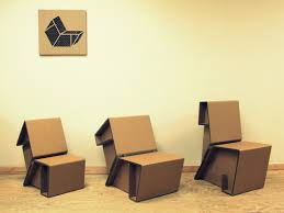 Flexible Love Folding Chair by Recycling Cardboard For Contemporary Furniture Design Ideas From