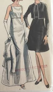 vogue vintage sewing pattern 7249 mod 60s evening gown cocktail