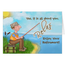 retirement card fishing with verse retirement card zazzle