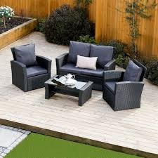 Rattan Settee Furniture 4 Piece Algarve Rattan Sofa Set For Patios Conservatories And