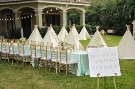 Backyard Teepee Glamping Themed Birthday Party In Tampa Fl The Celebration Society