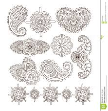 indian floral ornaments mandala henna vector stock vector