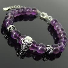 skull crystal bracelet images Psychic practice amethyst crystal bracelet spiritual skull cross jpg