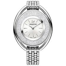 silver bracelet watches images Ladies 39 swarovski crystal crystalline oval silver tone jpg