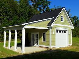Prefab Garage With Apartment by 20x20 1 Car 2 Story Modular Garage Vinyl Siding Devine House
