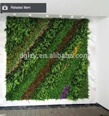 oem high quality fake vertical garden uv treated artificial green