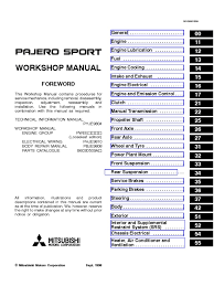 pajero sports workshop service manual 1999 airbag electrical