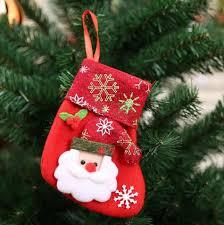 Anime Christmas Tree Ornaments Christmas Reindeer Socks Santa Snowman Elk Christmas Stockings