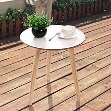 round white wood coffee table amazon com lazymoon 3 legged round white side end table coffee