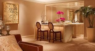 Wet Bar In Dining Room Encore Salon Suite Luxury Hotel Suites Encore Resort Las Vegas