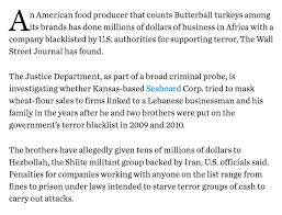 safe to say this butterball hezbollah investigation wins most