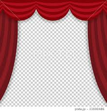 Theater Drop Curtain Drop Curtains Stage Stages Stock Illustration 11690486 Pixta
