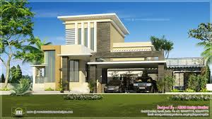 flat roof contemporary home kerala design house plans including