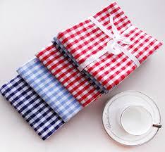 serviette de cuisine bleu blanc 3 pcs damier serviette de table serviette de