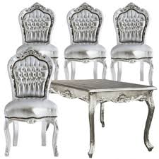 Silver Dining Tables Silver Dining Room Set X Baroque Style Silver Dining Table
