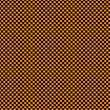 free digital scrapbook paper orange and black checkerboard jpg
