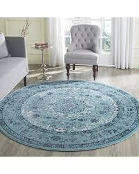 light blue round area rug huge deal on safavieh evoke collection evk220e vintage oriental