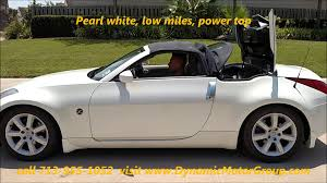 white nissan 2004 2004 nissan 350z convertible youtube