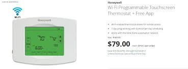 black friday wifi thermostat deal alert get a honeywell wi fi thermostat for 79 70 off