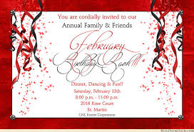 birthday bash invitations february event