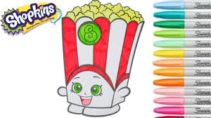 shopkins coloring book poppy corn season 2 colouring pages