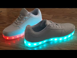 light up sneakers led light up shoes saguaro tm 8 colors led light up sneakers youtube